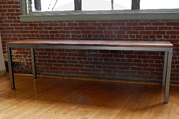 Desk-Walnut and Polished Steel