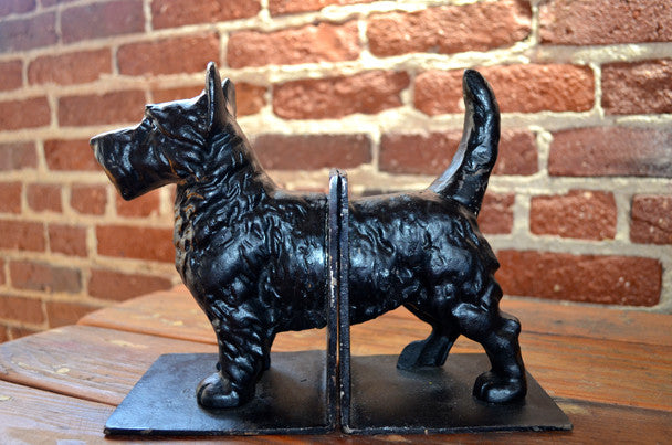 Iron Scottie Terrier Dog Bookend