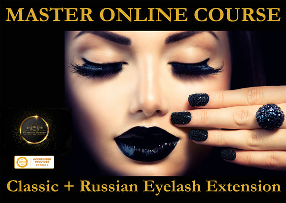 MASTER ONLINE TRAINING COURSE in Eyelash Extension - Glamour Beauty