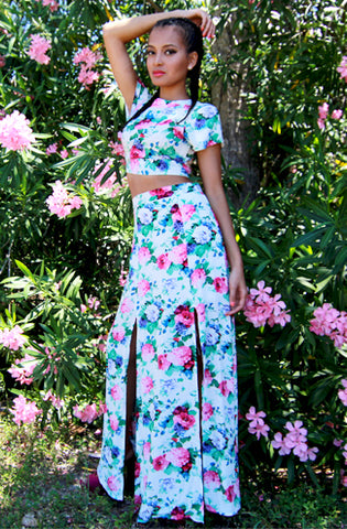 "alt=""lovecat-brunch-two-piece-skirt-set-in-pink-floral"""