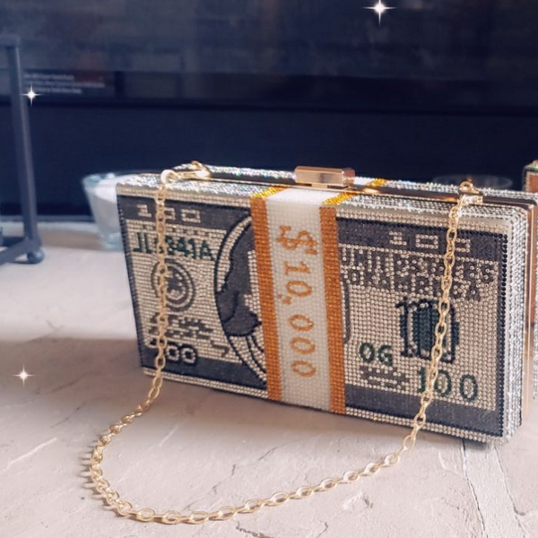 Bling Cash Clutch