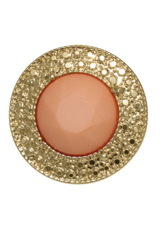 8 Other Reasons Basics Gold Cocktail Ring in Peach