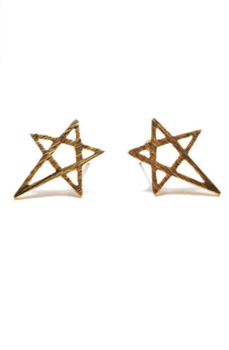"alt=""Abstract-Star-Stud-Earrings-in-Gold_or-Silver"""