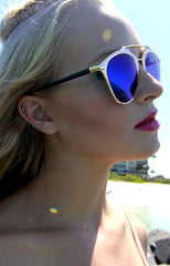 "alt=""Bar-From-It-Metal-Crossbar-Royal-Blue-Mirrored-Sunglasses-in-Gold-side"""