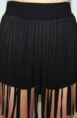 "alt=""Faux-Suede-Fringe-Shorts-in-Black-close"""