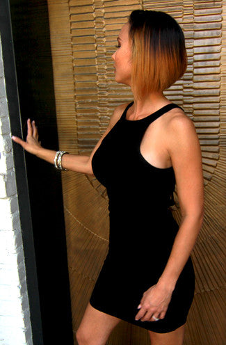Cage Me Up Bodycon Mini Dress in Black -Shot 2