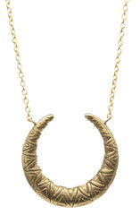 Medium Tribal Crescent Necklace