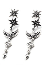 "alt=""Crescent-Moon-and-Star-Drop-Earrings-in-Silver"""