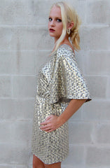 "alt=""Gold-Disco-Bell-Sleeve-Dress-side"""