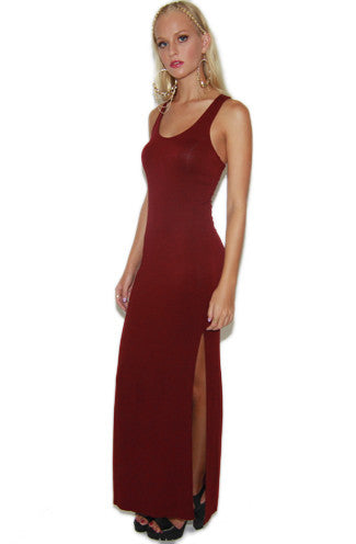 "alt=""double-slit-maxi-tank-dress-in-wine-front"""