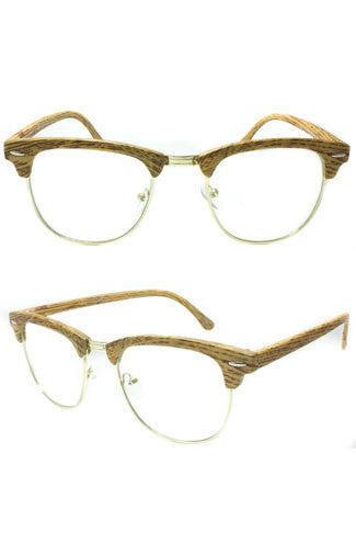 "alt=""In-the-clear-cat-eye-faux-wood-glasses-in-light-brown"""