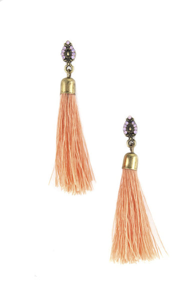 Isis Tassel Drop Threaded Earrings