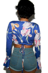 "alt=""MINKPINK-By-The-River-Floral-Bell-Sleeve-Wrap-Top-back"""