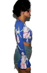"alt=""MINKPINK-By-The-River-Floral-Bell-Sleeve-Wrap-Top-side"""