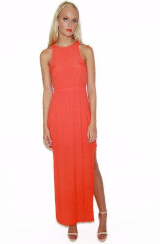 "alt=""MINKPINK-the-runaway-maxi-dress-in-tangerine-front"""