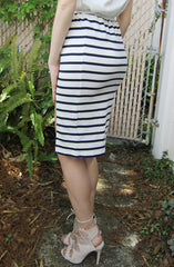 "alt=""MINKPINK-Stripe-Midi-Split-Skirt-in-Navy/White-side"""