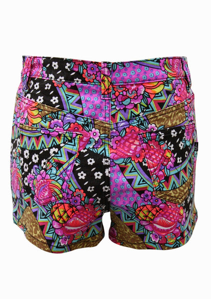 MINKPINK Africana Pop Print Denim Shorts -Shot 2
