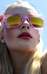 "alt=""Poolside-Pink-and-Orange-Mirrored-Sunglasses-in-Light-Pink"""
