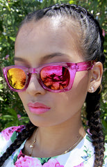 "alt=""Poolside-Pink-and-Orange-Mirrored-Sunglasses-in-Magenta"""