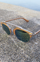 "alt=""Retro-Hipster-Metal-Crossbar-Yellow-and-Green-Mirrored-Sunglasses-in-Gold"""