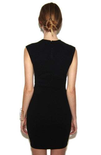 Future Plunging Neckline Dress in Black and Gold -Shot 2