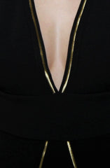 "alt=""Stewardess-Dress-in-Black-and-Gold-close"""