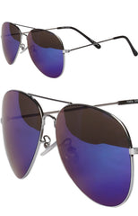 "alt=""Top-Gun-Blue-Mirrored-Aviator-Sunglasses-in-Silver-detail"""