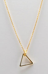 Gold Trio Triangle Charm Necklace