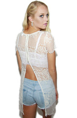 Babygirl Open Back Lace Tunic