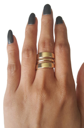 Bandit Wrap Cage Ring in Gold -Shot 2