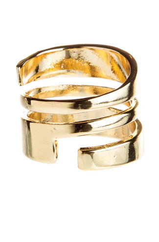 Bandit Wrap Cage Ring in Gold
