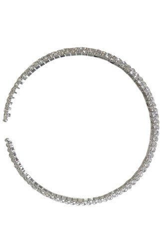 Bling Bling Choker Set in Silver -Shot 2