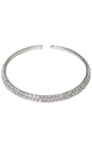 Bling Bling Choker Set in Silver