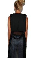 "alt=""Dip-it-Low-Netted-Long-Maxi-Vest-in-Black-back"""