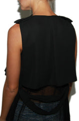 "alt=""Dip-it-Low-Netted-Long-Maxi-Vest-in-Black-back-detail"""
