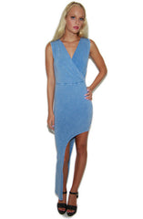"alt=""faux-denim-printed-asymmetrical-bodycon-dress"""