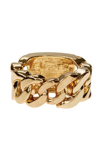 ID Chain Ring in Gold -Shot 2