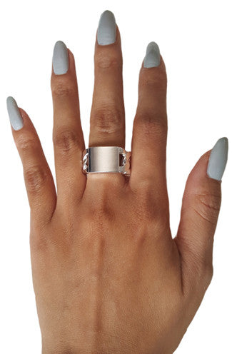 ID Chain Ring in Silver -Shot 2