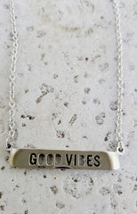 "alt=""Jaeci-Good-Vibes-Cutout-Necklace-in-silver-detail"""