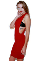 "alt=""off-the-deep-side-cut-out-dress-in-red-side"""