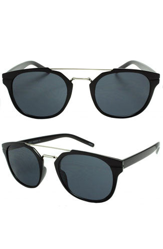Onlooker Crossbar Black Sunglasses
