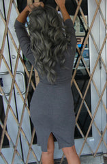 "alt=""plunge-zip-ribbed-bodycon-dress-in-grey-back"""
