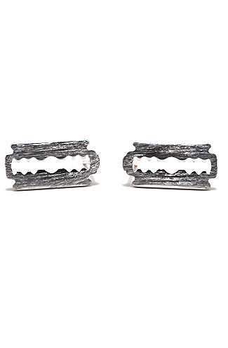 Silver Razor earrings