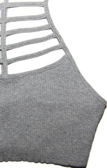 "alt=""rib-halter-cage-crop-tank-in-heather-grey-detail"""