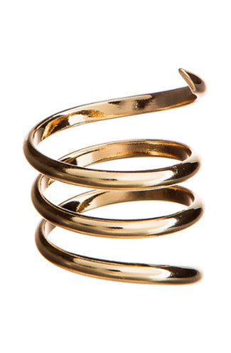 Snake Spiral Ring in Gold