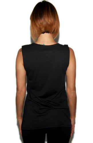 Social Decay Meet Me at the Barre Muscle Tee in Black -Shot 2