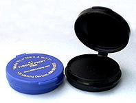 Round Dark Ink Fingerprint Pad