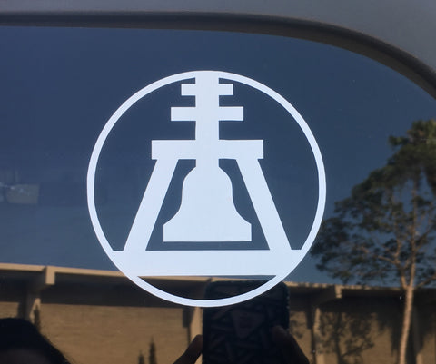 Circle Raincross car decal
