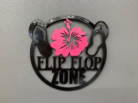 Flip Flop Zone Wall Sign