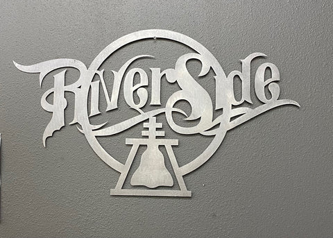 'Riverside' Sign